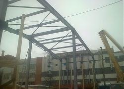 Металлический каркас здания
